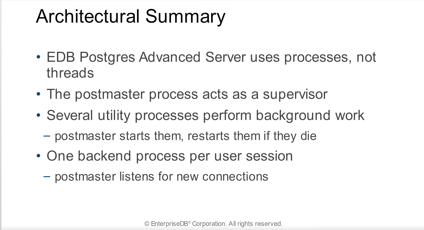 Module 2 - System Architecture - Postgres Administration