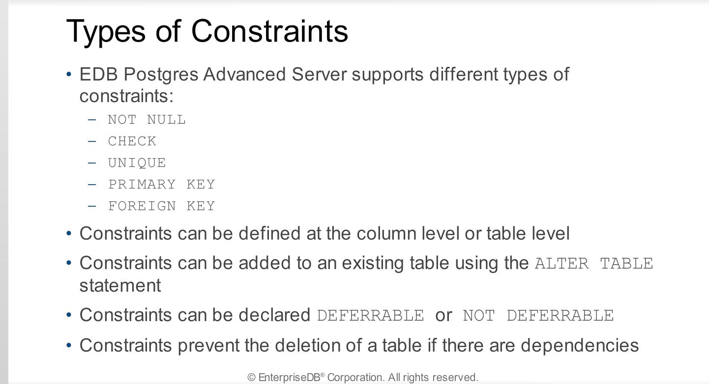 Module 10 - SQL Primer - Postgres Administration Essentials
