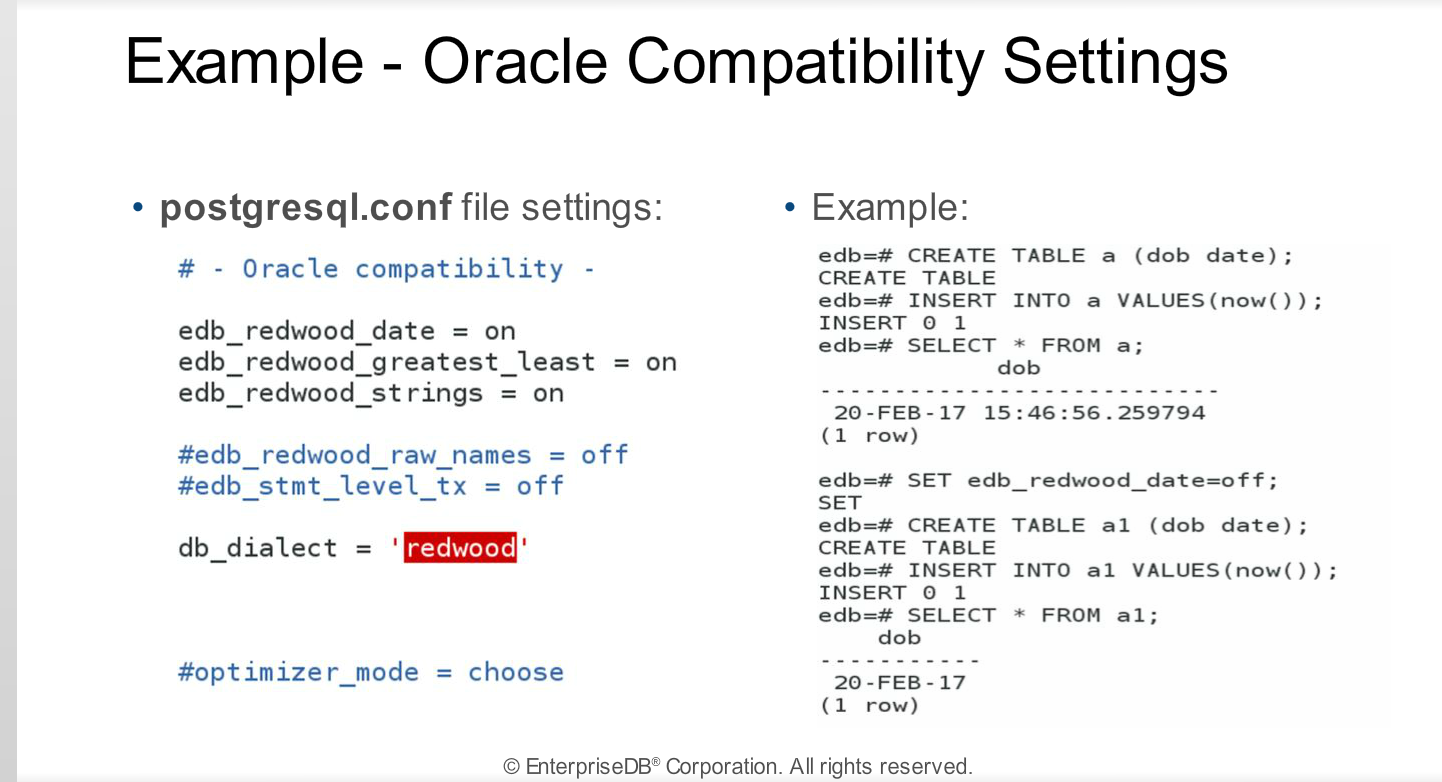 Module 17 - Oracle Compatibility - Postgres Administration